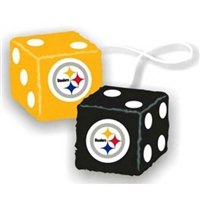 Pittsburgh Steelers NFL 3 Car Fuzzy Dice""