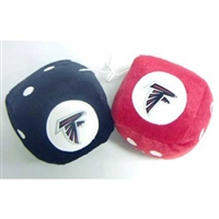 Atlanta Falcons NFL 3 Car Fuzzy Dice""