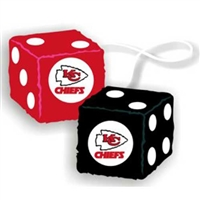 Kansas City Chiefs NFL 3 Car Fuzzy Dice""