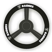Oakland Raiders NFL Leather Steering Wheel Cover
