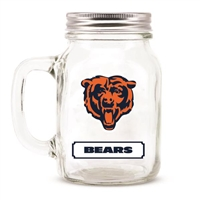Chicago Bears NFL Mason Jar Glass With Lid