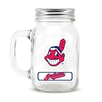 Cleveland Indians MLB Mason Jar Glass With Lid