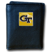Georgia Tech Yellow Jackets Leather Tri-fold Wallet