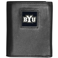 BYU Cougars Leather Tri-fold Wallet in Gift Box