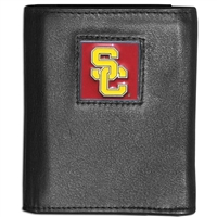USC Trojans Tri-fold Leather/Nylon Wallet