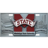 Mississippi State Bulldogs 3D License Plate