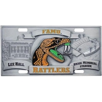 FAMU Rattlers 3D License Plate