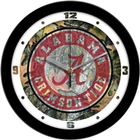 "Alabama Crimson Tide 12"" Wall Clock - Camo"