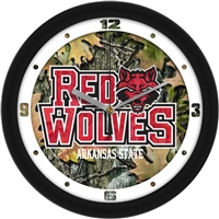 "Arkansas State Red Wolves 12"" Wall Clock - Camo"