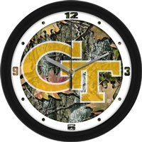 "Georgia Tech Yellow Jackets 12"" Wall Clock - Camo"