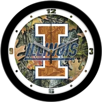 "Illinois Fighting Illini 12"" Wall Clock - Camo"