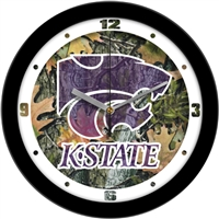 "Kansas State Wildcats 12"" Wall Clock - Camo"