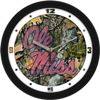 "Ole Miss Rebels 12"" Wall Clock - Camo"