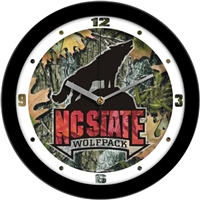 "North Carolina State Wolfpack 12"" Wall Clock - Camo"