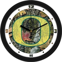 "Oregon Ducks 12"" Wall Clock - Camo"
