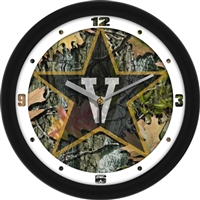 "Vanderbilt Commodores 12"" Wall Clock - Camo"