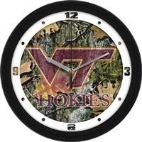 "Virginia Tech Hokies 12"" Wall Clock - Camo"