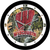 "Wisconsin Badgers 12"" Wall Clock - Camo"