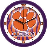 "Clemson Tigers 12"" Wall Clock - Dimension"