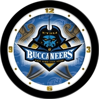 "East Tennessee State (ETSU) Buccaneers 12"" Wall Clock - Dimension"