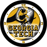 "Georgia Tech Yellow Jackets 12"" Wall Clock - Dimension"