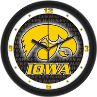 "Iowa Hawkeyes 12"" Wall Clock - Dimension"
