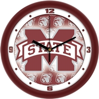 "Mississippi State Bulldogs 12"" Wall Clock - Dimension"