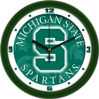 "Michigan State Spartans 12"" Wall Clock - Dimension"