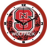 "North Carolina State Wolfpack 12"" Wall Clock - Dimension"