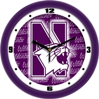 "Northwestern Wildcats 12"" Wall Clock - Dimension"