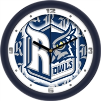 "Rice Owls 12"" Wall Clock - Dimension"