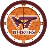 "Virginia Tech Hokies 12"" Wall Clock - Dimension"