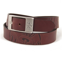 New York Yankees MLB Men's Embossed Leather Belt