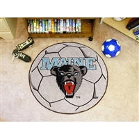 Maine Black Bears NCAA Soccer Ball Round Floor Mat (29)