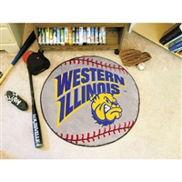 Western Illinois Leathernecks NCAA Baseball Round Floor Mat (29)