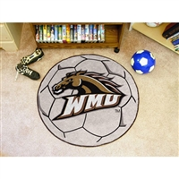 Western Michigan Broncos NCAA Soccer Ball Round Floor Mat (29)