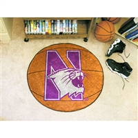 Northwestern Wildcats NCAA Basketball Round Floor Mat (29)