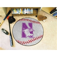 Northwestern Wildcats NCAA Baseball Round Floor Mat (29)