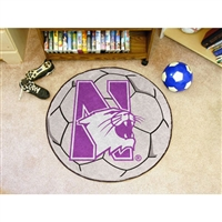 Northwestern Wildcats NCAA Soccer Ball Round Floor Mat (29)