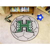 Hawaii Rainbow Warriors NCAA Soccer Ball Round Floor Mat (29)