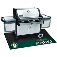 Oakland Athletics MLB Vinyl Grill Mat