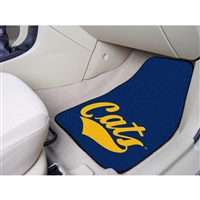 Montana State Bobcats NCAA 2-Piece Printed Carpet Car Mats (18x27)