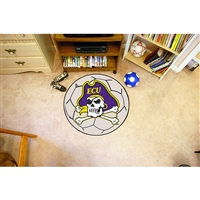 East Carolina Pirates NCAA Soccer Ball Round Floor Mat (29)