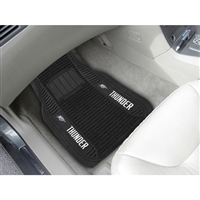 Oklahoma City Thunder NBA Deluxe 2-Piece Vinyl Car Mats (20x27)