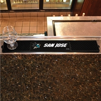 San Jose Sharks NHL Drink Mat (3.25in x 24in)