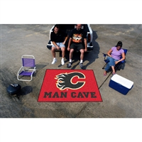 Calgary Flames NHL Man Cave Tailgater Floor Mat (60in x 72in)