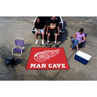 Detroit Red Wings NHL Man Cave Tailgater Floor Mat (60in x 72in)