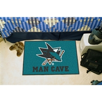 San Jose Sharks NHL Man Cave Starter Floor Mat (20in x 30in)