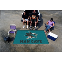 San Jose Sharks NHL Man Cave Ulti-Mat Floor Mat (60in x 96in)