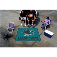 San Jose Sharks NHL Man Cave Tailgater Floor Mat (60in x 72in)